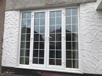 French patio doors white uvpc double glazed