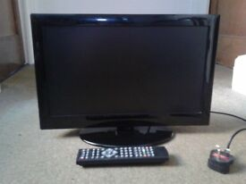 """18.5"""" LCD TV with built in DVD player"""
