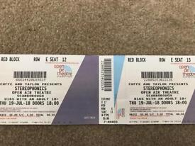 Stereophonics tickets x2 (hotel available@£60)