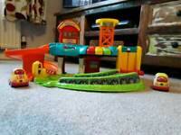 Vtech Toot Toot Garage and 3 cars