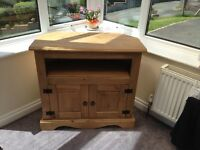 REO Oak TV Cabinet