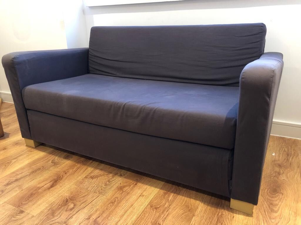 Ikea Solsta Navy Fold Out Sofa Bed Two Seater Large Singlesmall Double Bed In Enfield London Gumtree