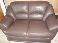 Brown Leather Sofa - Regular Size