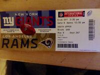One NFL London Football Ticket - Oct. 23rd, Giants vs Rams