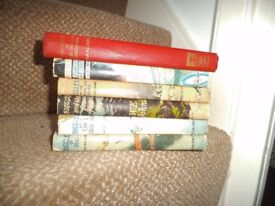 6 Biggles Books, hard back