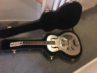 gretsch g9221 electro acoustic resonator round neck with taylor case