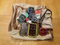 Fly fishing complete set up rod reel fly ect