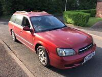 Subaru Legacy GL AWD 1994cc Petrol 5 speed manual 5 door estate V Reg 22/01/2000 Red