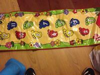 Baby musical toys. Fisher Price activity table, musical mat, noddy push button guitar