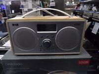 LOGIK L55DAB15 Portable DAB+/FM Clock Radio - Silver & Wood