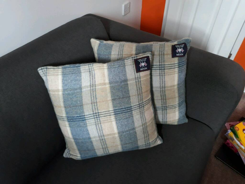 Pair of By Moon Wool cushions