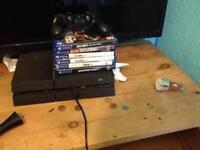PlayStation 4 1TB with 7 games and 1 control pad