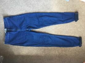 Women's new look super high waisted and skinny jeans size 10