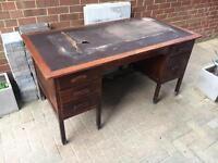 Doctors desk ~ vintage large office table