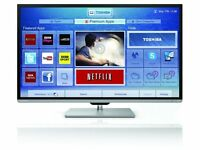 """Toshiba 50L7355DB 50"""" LED smart 3D TV with twin tuners Freesat + freeview"""