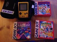 Nintendo game boy and games