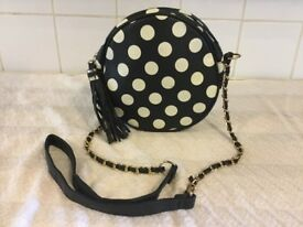A fun little black & white handbag