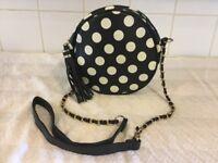 A fun little black & white handbag