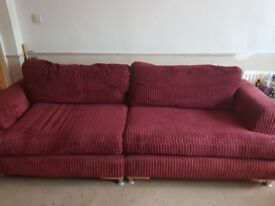 3/4 seater sofa and swivel chair