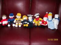 hand knitted 10inch mascot dolls £4 each. buyer collects.