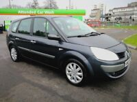 5 SEATS RENAULT GRAND SCENIC AUTOMATIC IN TOP CONDITION. LONG MOT. SERVICE HISTORY. CAMBELT REPLACED