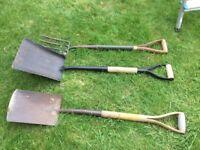 Spade fork and shovel for sale