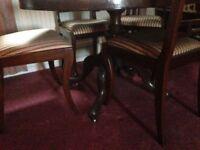 4 Regency chairs
