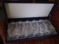 Boxed 6 Wine Glass set