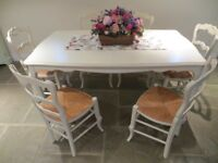 LAURA ASHLEY PROVENCALE CREAM DINING TABLE