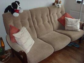 For Sale Cintique Wooden Framed Sofa