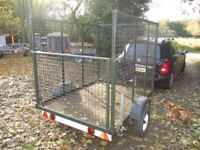 VERY RARE 6-6 X 5-0 X 5-0 STEEL MESH CAGED TRAILER.... 750KG UNBRAKED....