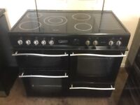 Leisure Roma electric range cooker 100cm black 3 months warranty free local delivery!!!!!