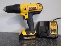 NO OFFERS...DeWALT DCD776 18V LI-ION XRP COMBI HAMMER DRILL+ 1x1.5ah batt + charger,,used, makita