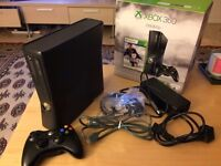 250GB Xbox 360 with wireless controller & headset