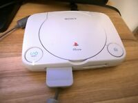 SONY PSone - with LEADS, PAD, MEMORY CARD & 3 GAMES