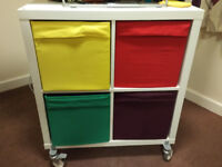 TV stand - IKEA KALLAX SHELVING UNIT WHEELED
