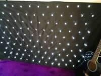 LED BLACK STAR CLOTH WITH 120 WHITE LEDS
