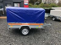 BRAND NEW 2021 MODEL 6.7x 3.8 SINGLE AXLE TEMARED ECO TRAILER WITH FRAME AND COVER 80CM 750KG