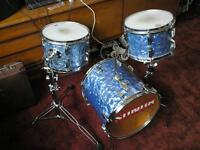 Hip-gig kit, Vintage SONOR in light-blue pearl....early seventy's