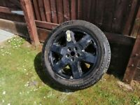 RANGE ROVER SPORT LAND ROVER DISCOVERY FULL SIZE SPARE ALLOY WHEEL NEW TYRE 255/50/19 CONTINENTAL