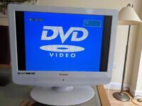 19in television with built in DVD player and freeview - ideal for kitchen or bedroom