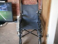 wheelchair with foot rests