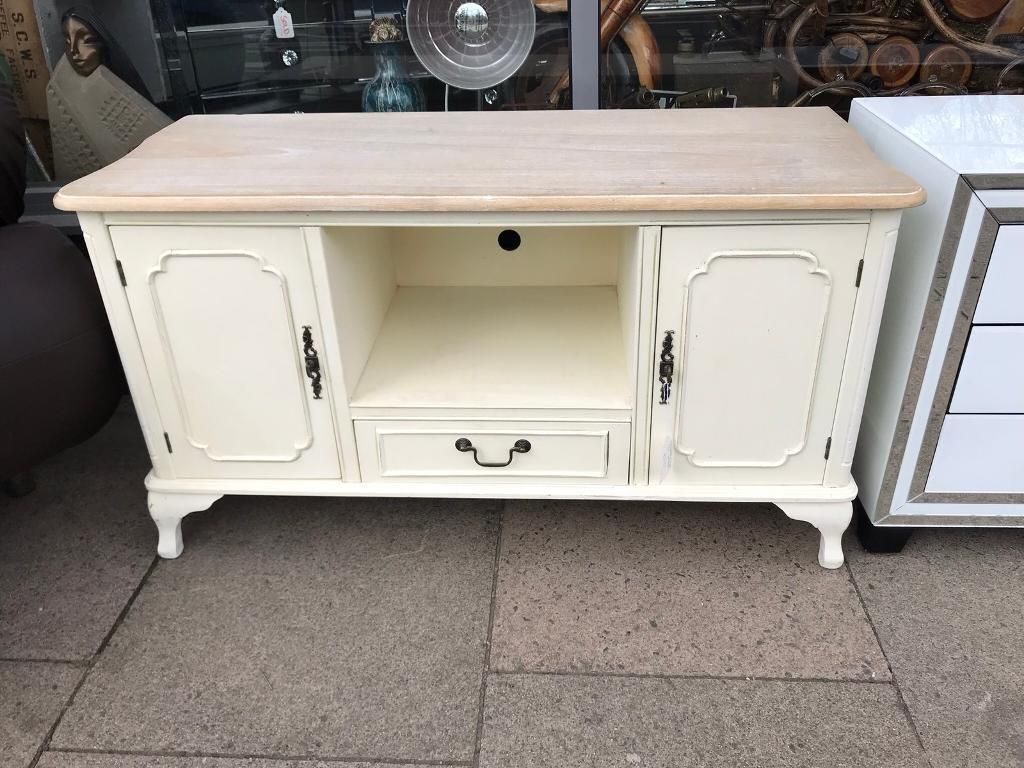 French Style Shabby Chic Cream Tv Stand In Leicester
