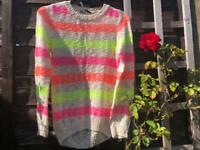 Bright striped jumper, age 10-11