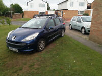 Peugeot 207sw 1.4vti S Low mileage good condition