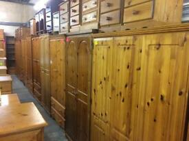 Quality used solid wood / pine wardrobe & more