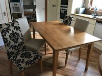 Modern Extending Dining Table and 6 Chairs