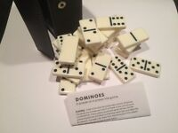 Traditional Dominoes in Black Faux Leather Case. Domino, £6