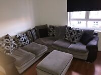 5 Seater Corner Sofa with large foot rest. MUST COLLECT