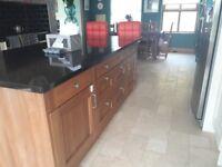 Cream shaker and walnut kitchen doors